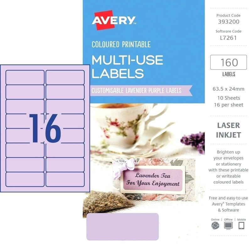 Avery Filing Laser Labels Template