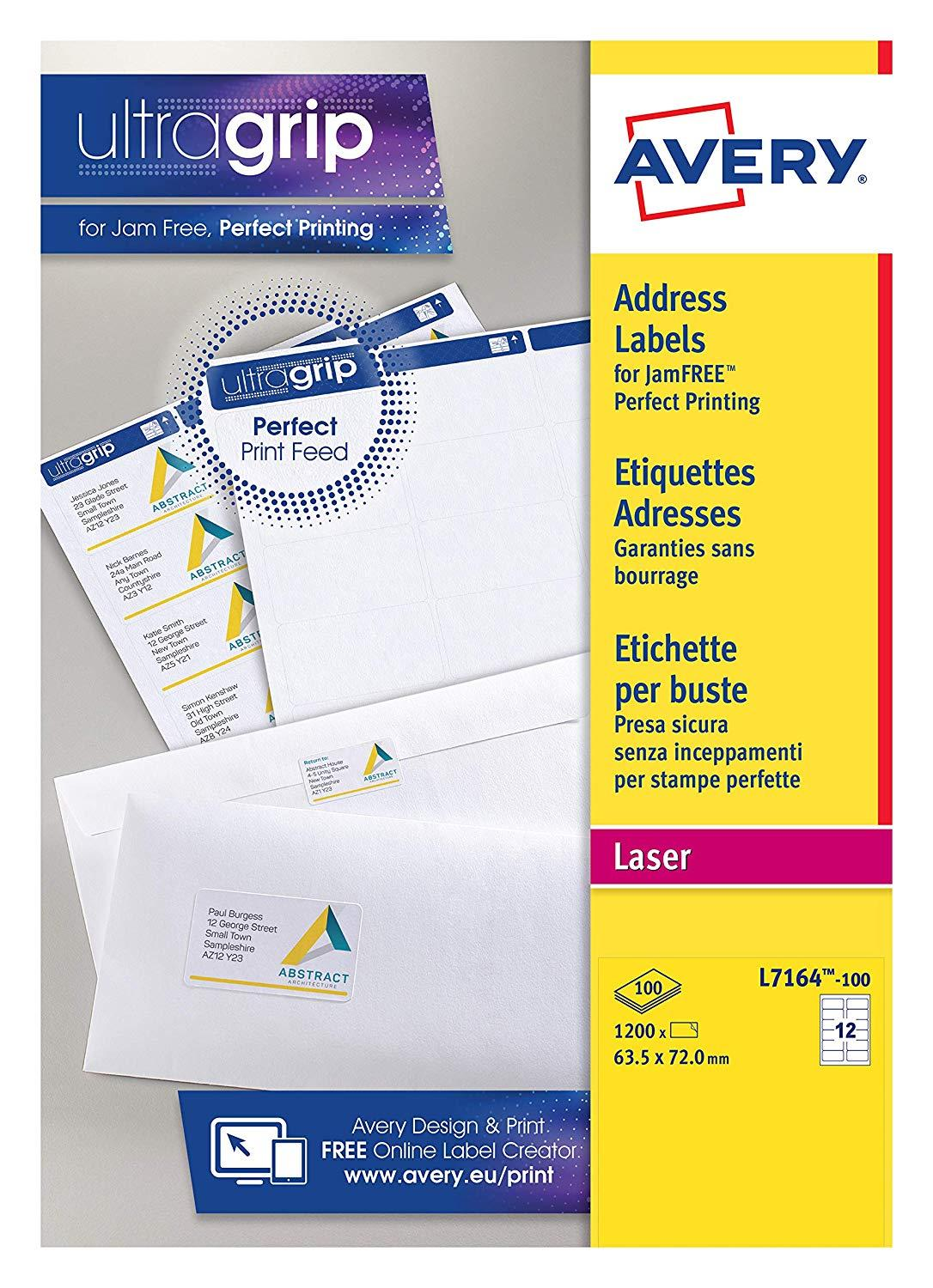 Avery Labels Printing Template L7164