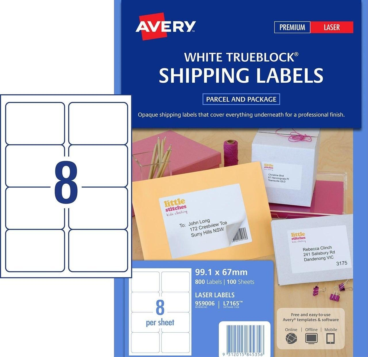 Avery Labels Printing Template L7165