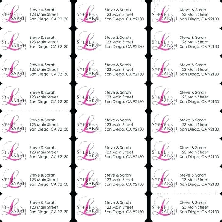 Avery Labels Printing Template L7651