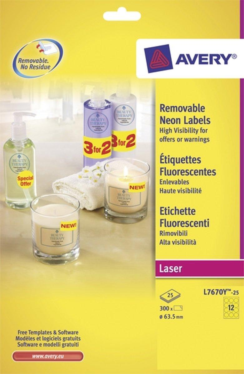 Avery Labels Printing Template L7670