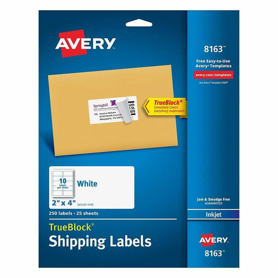 Avery Labels Template 5160 For Pages