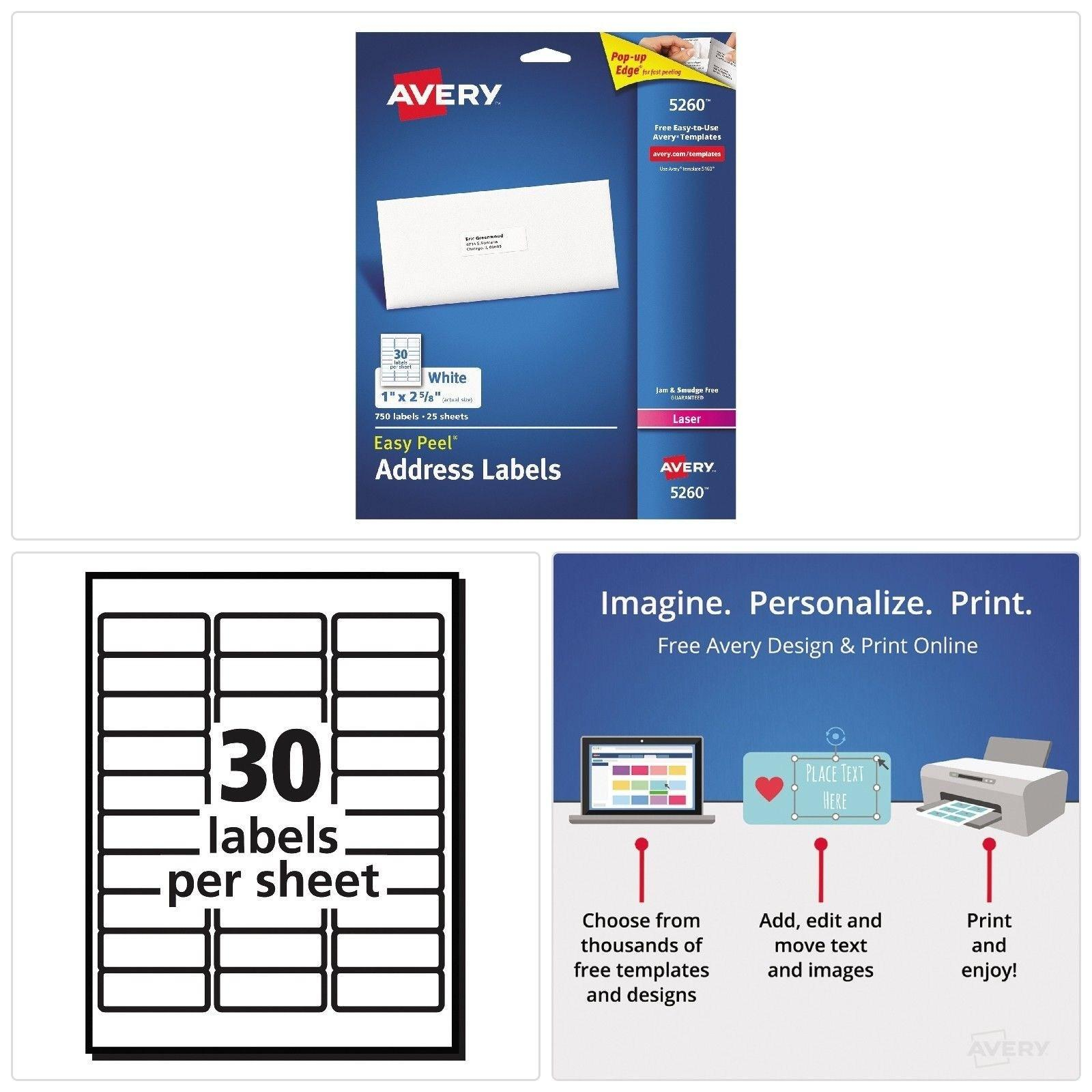 Avery Labels Templates 5162