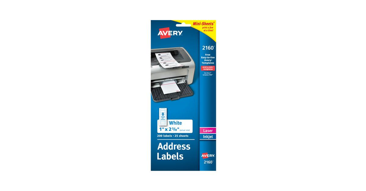 Avery Laser Labels 2160 Template