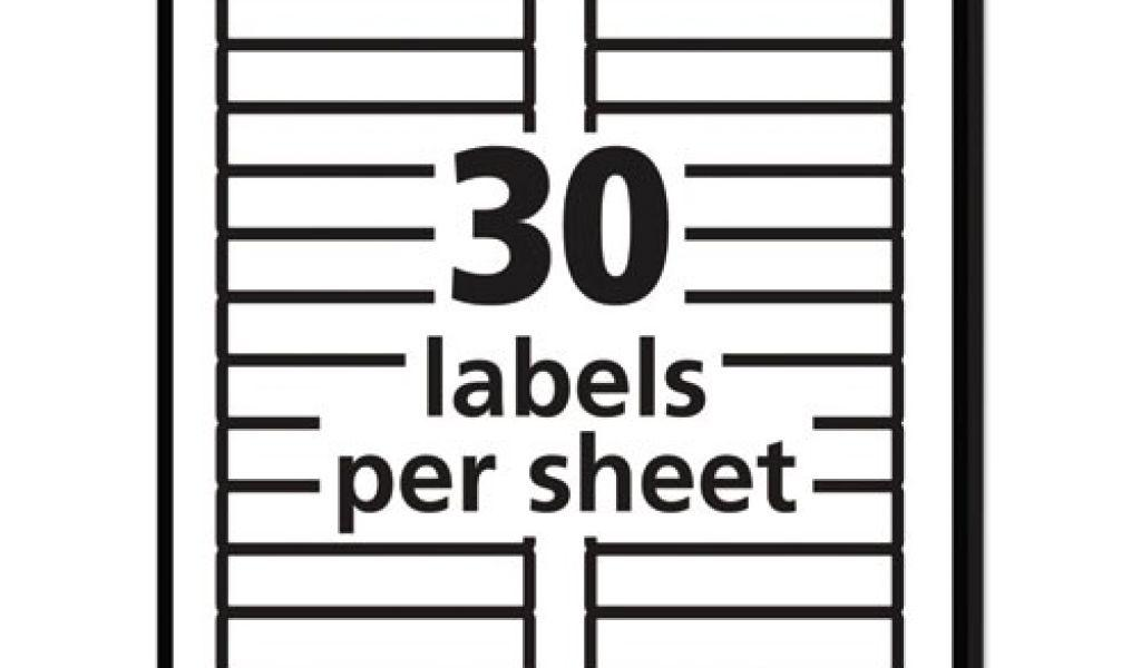 Avery Laser Labels 5266 Template