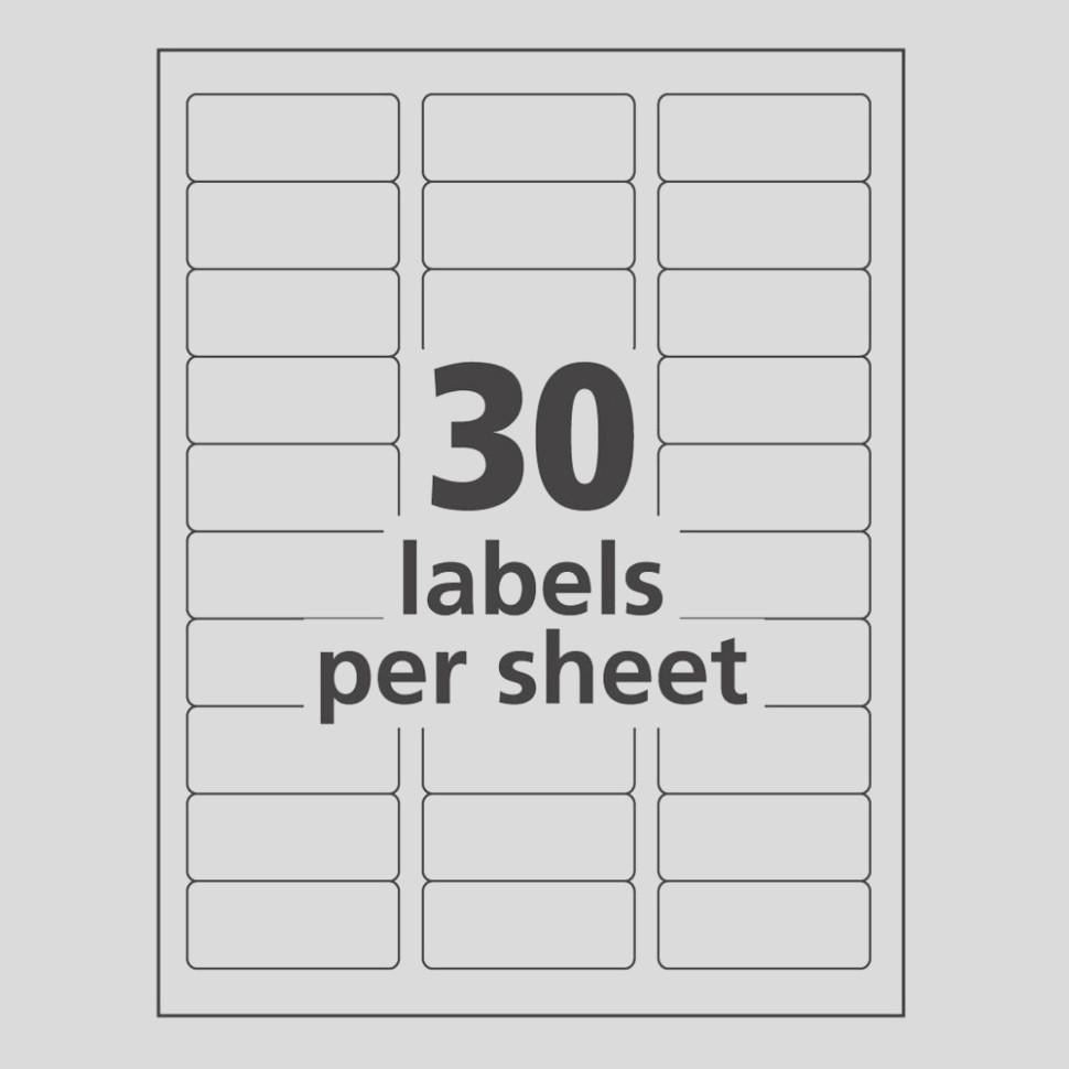 Avery Laser Labels Template