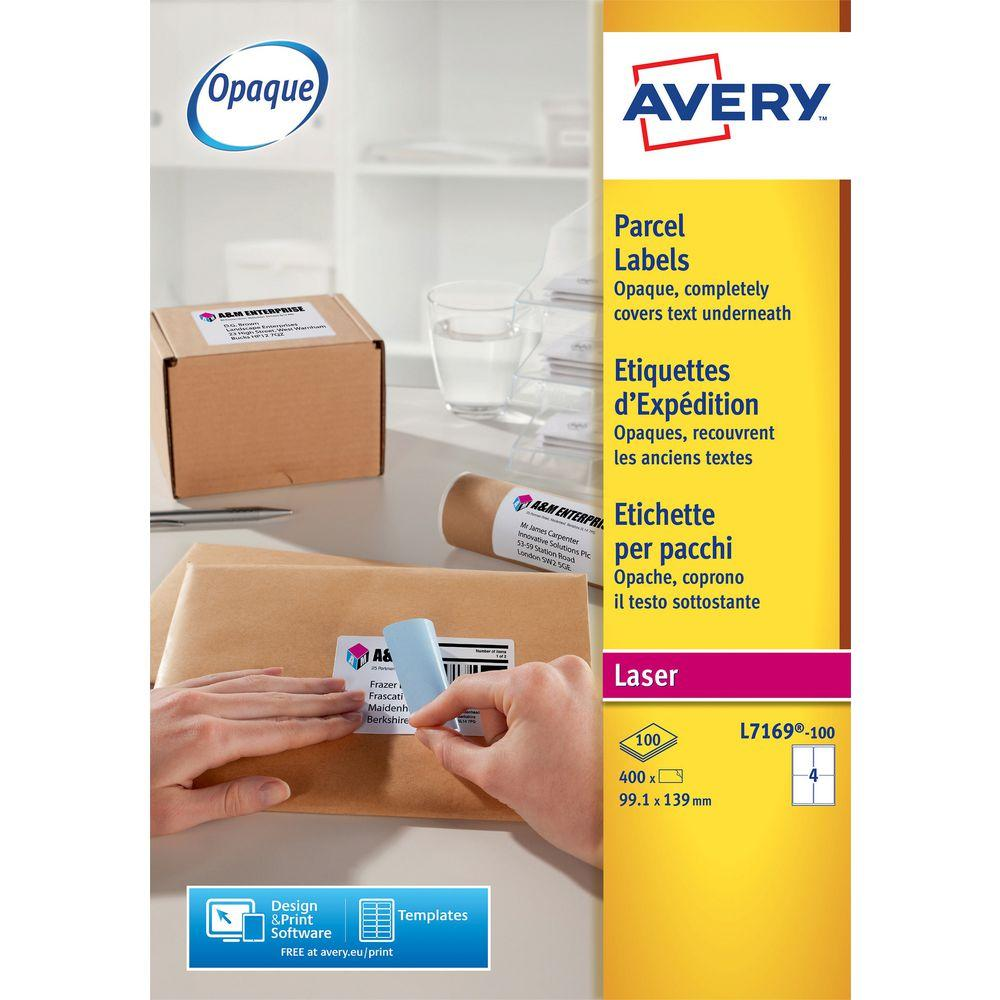 Avery Laser Parcel Labels Template