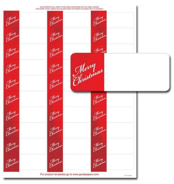 Avery Mailing Labels 5160 Template