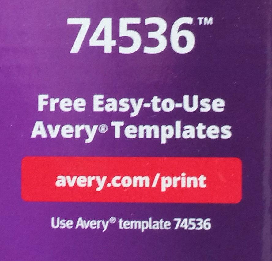 Avery Name Badges Template 74536