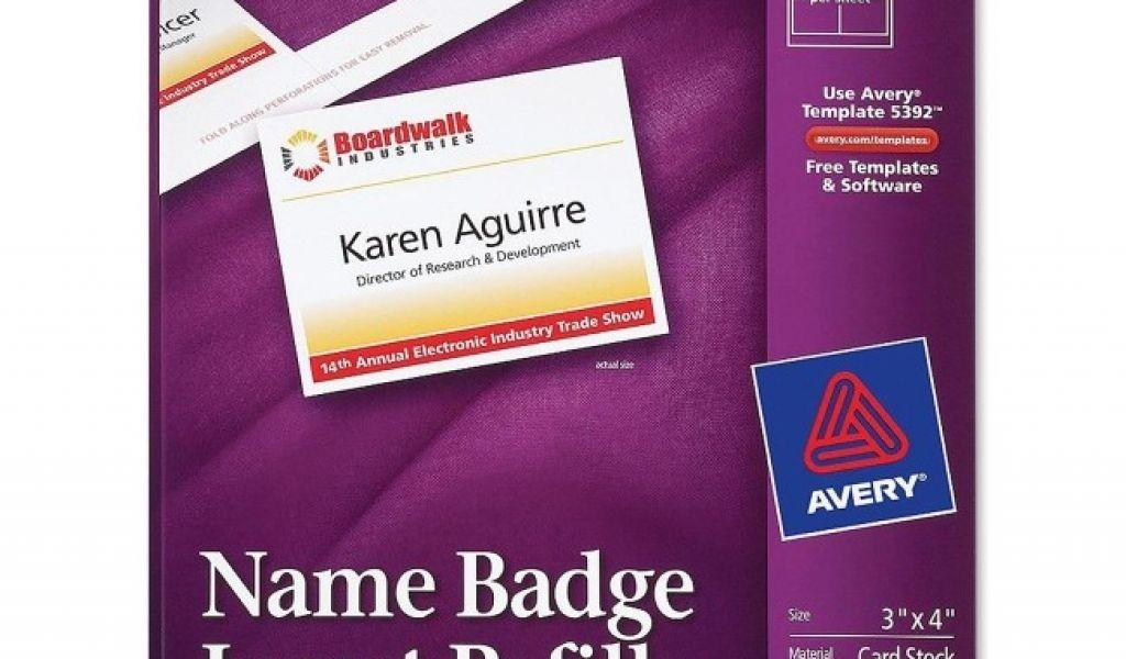 Avery Name Badges Template 74651