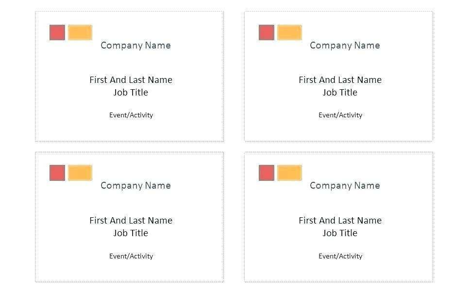 Avery Name Badges Template 8395