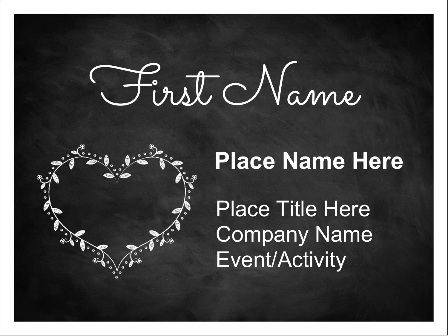 Avery Name Tag Template 5393