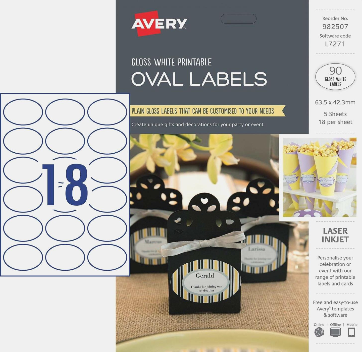 Avery Oval Label Template
