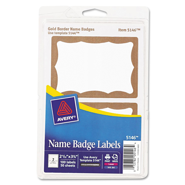 Avery Print Name Badges