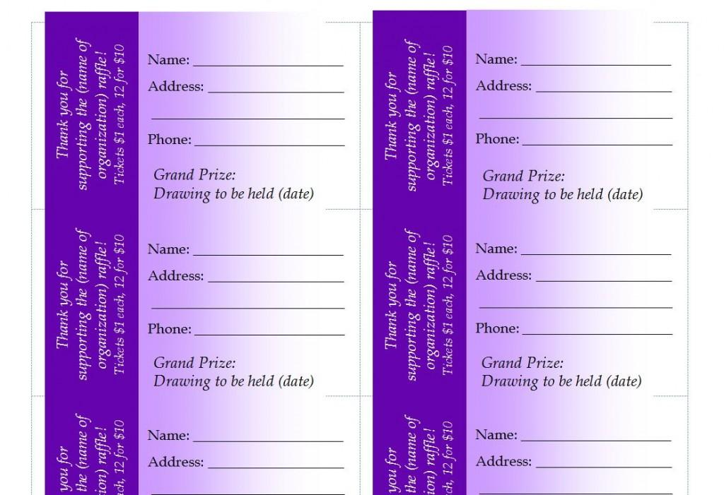 Avery Raffle Ticket Templates