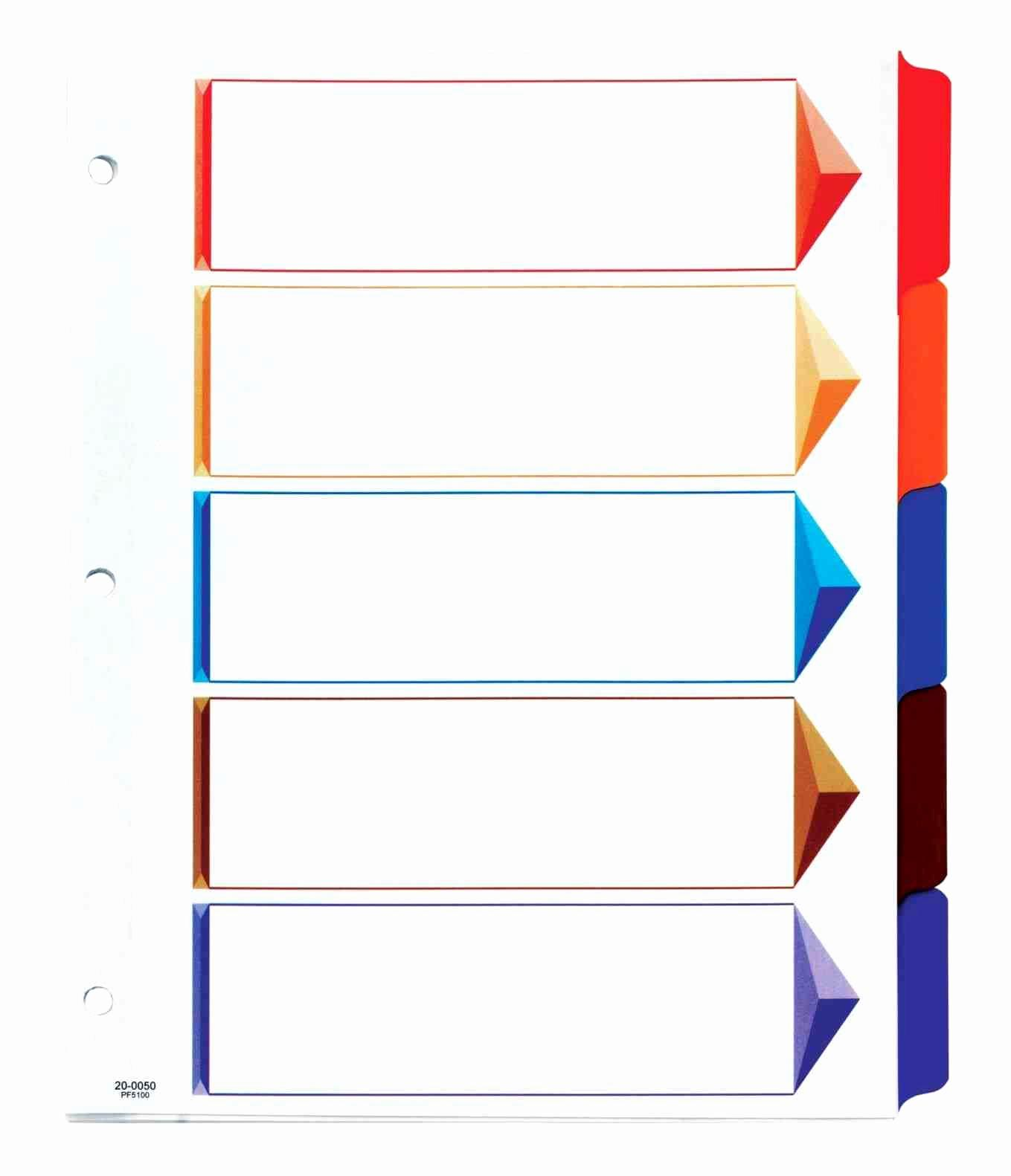 Avery Ready Index Dividers 12 Tab Template