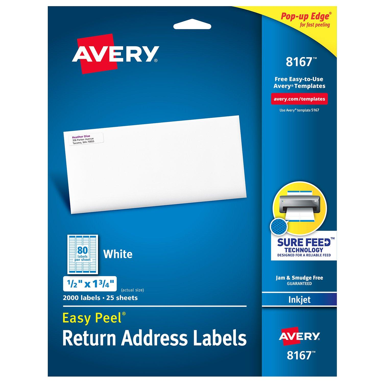 Avery Return Address Label Template 5667