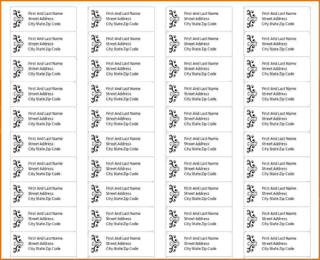 Avery Return Address Labels Template 5195