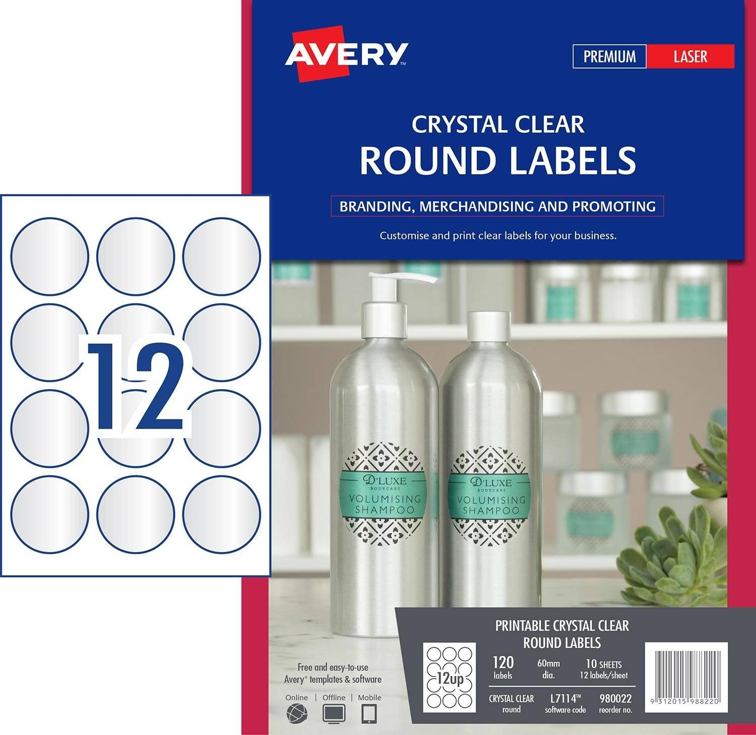 Avery Round Labels 60mm Template