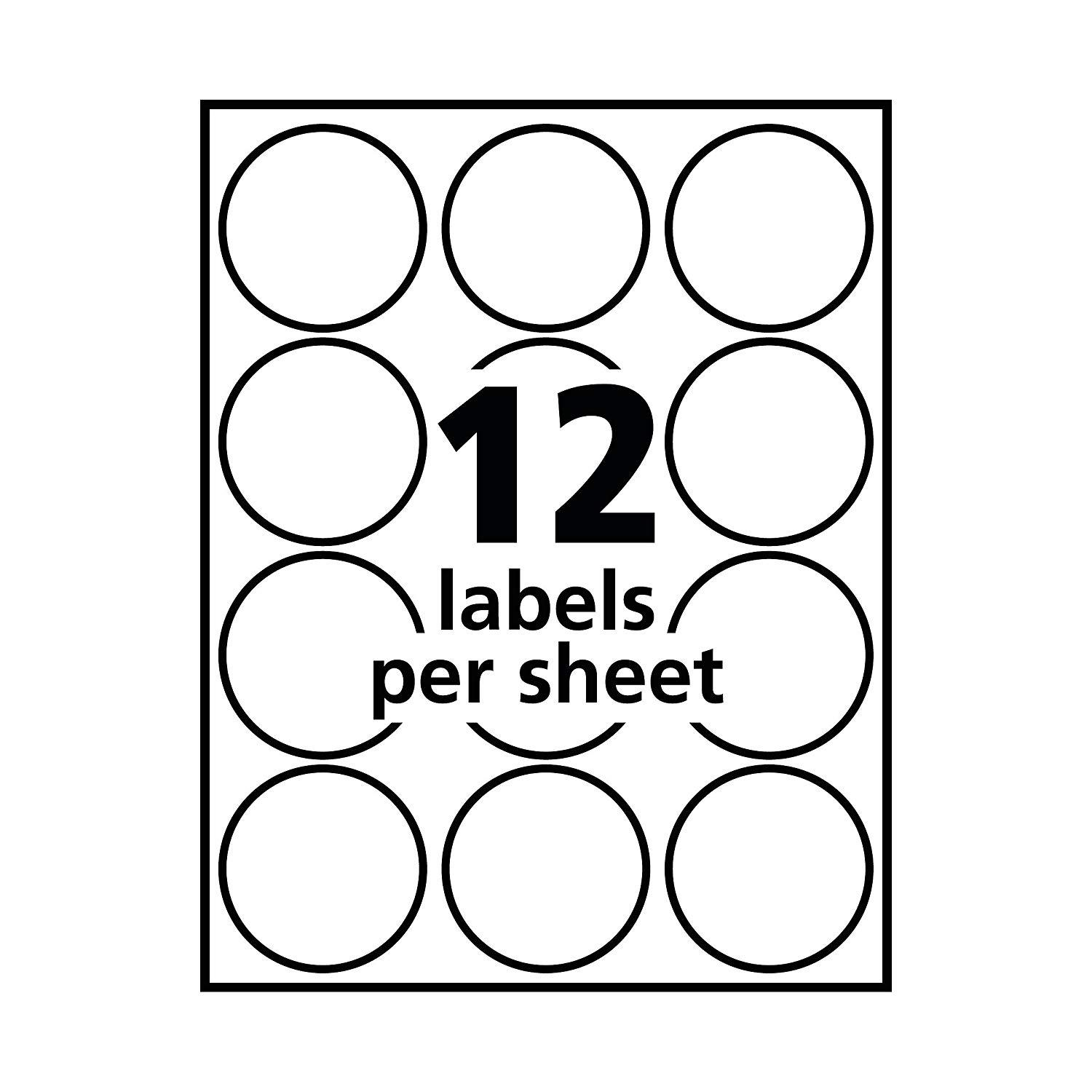 Avery Round Labels Template 22817