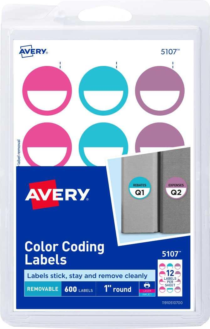 Avery Round Labels Template 8293