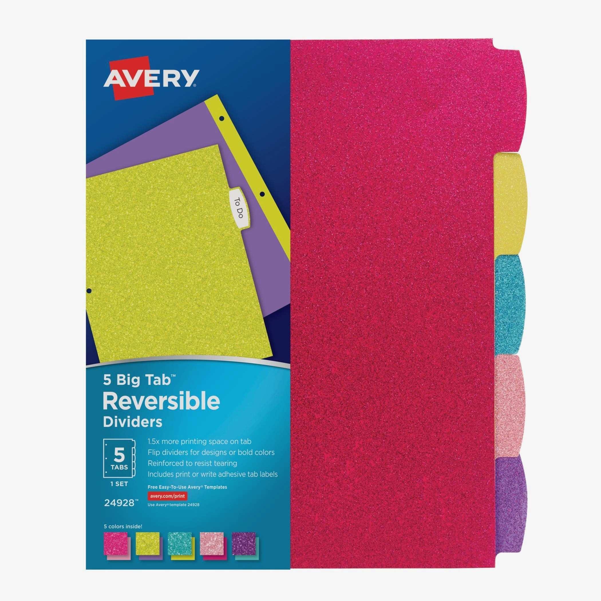 Avery Tab Templates 11901
