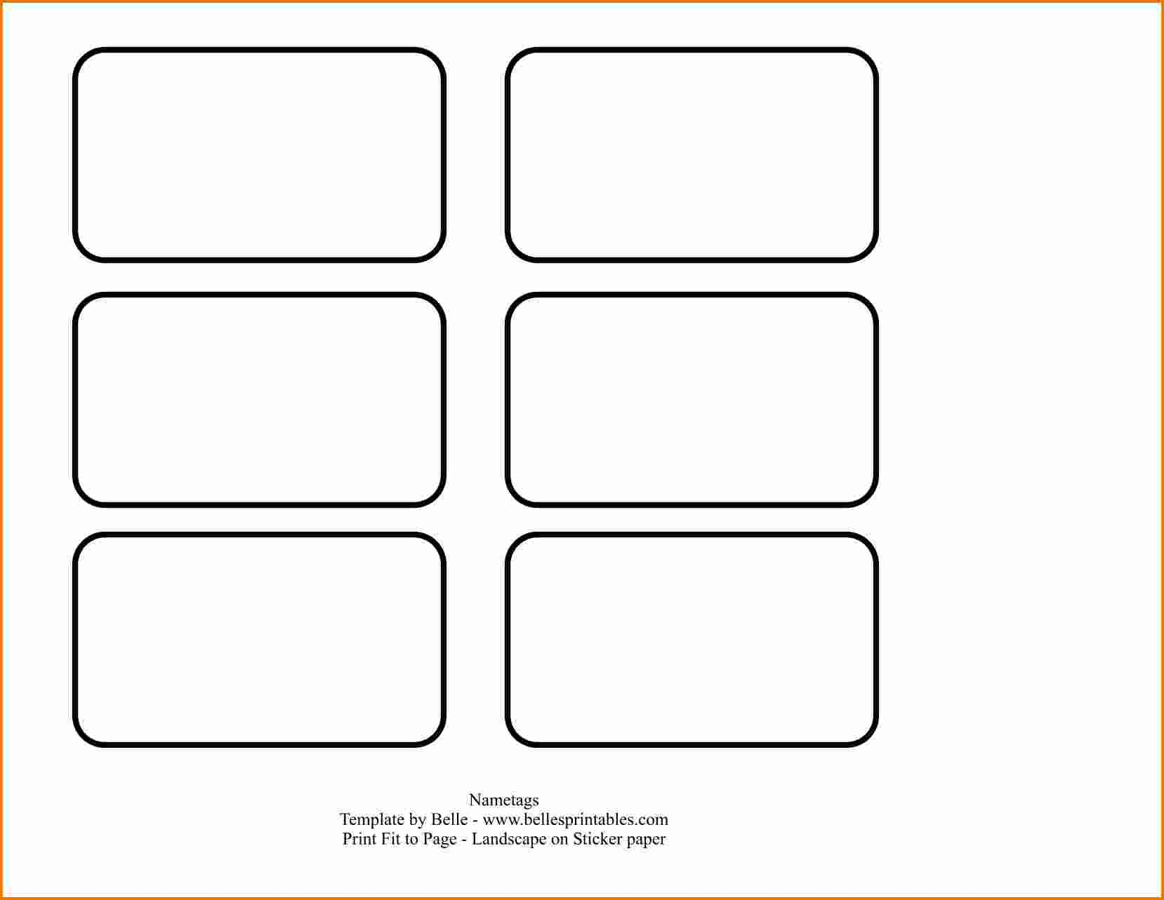 Avery Templates For Name Badge 3×4