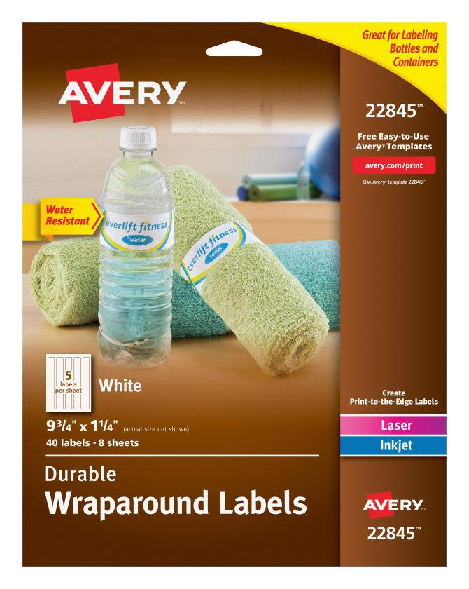 Avery Water Bottle Labels Template