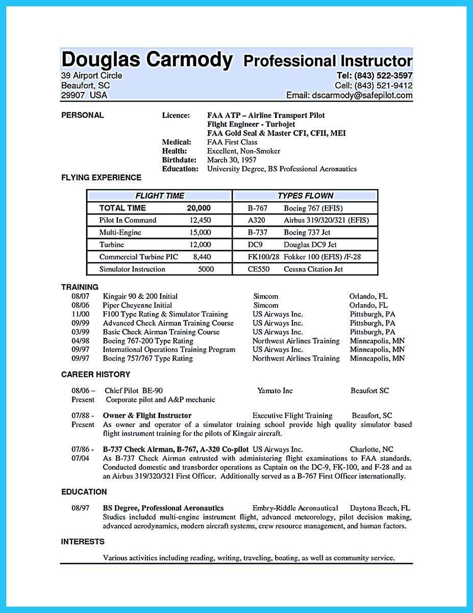 Aviation Resume Template