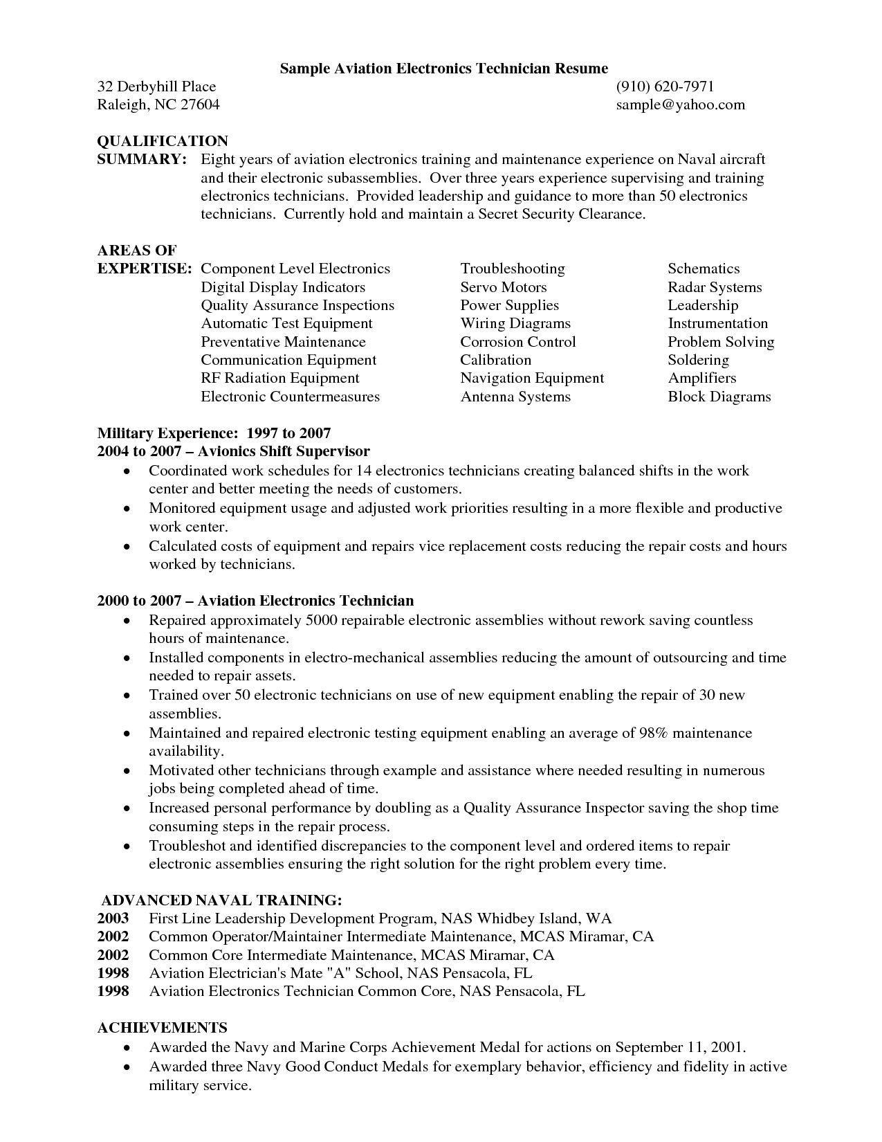 Aviation Resume Templates Free