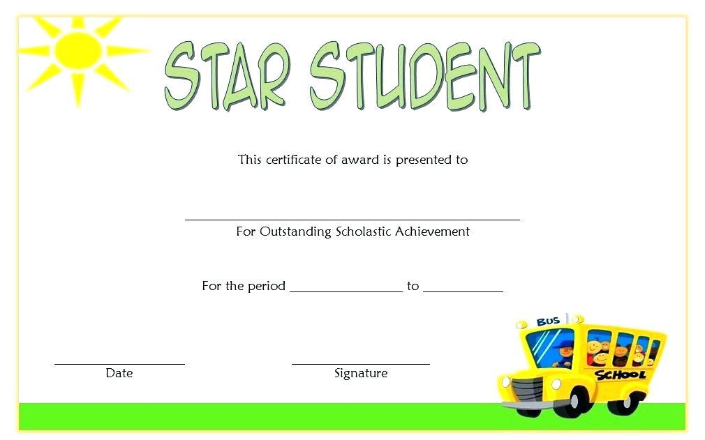 Award Certificate Templates For Elementary School