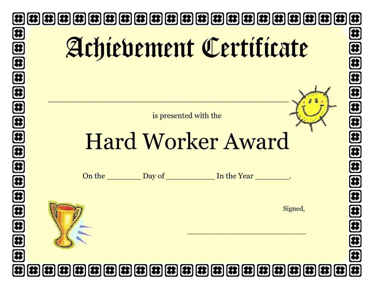 Award Certificates Templates Free