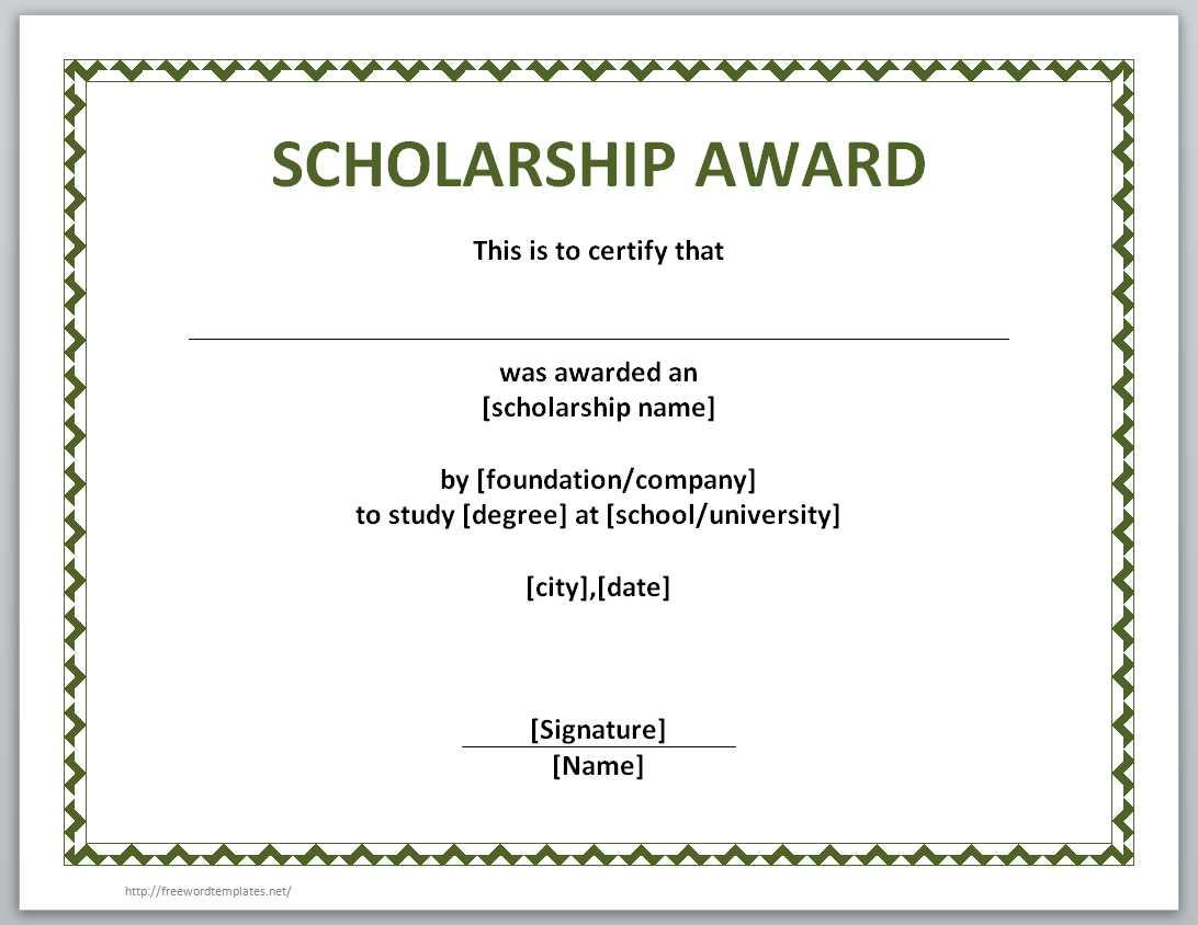 Award Certificates Templates Publisher