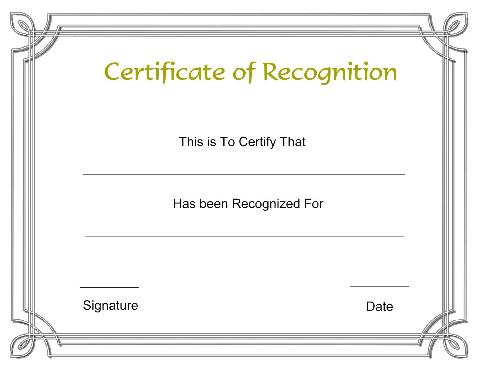 Award Certificates Templates Word