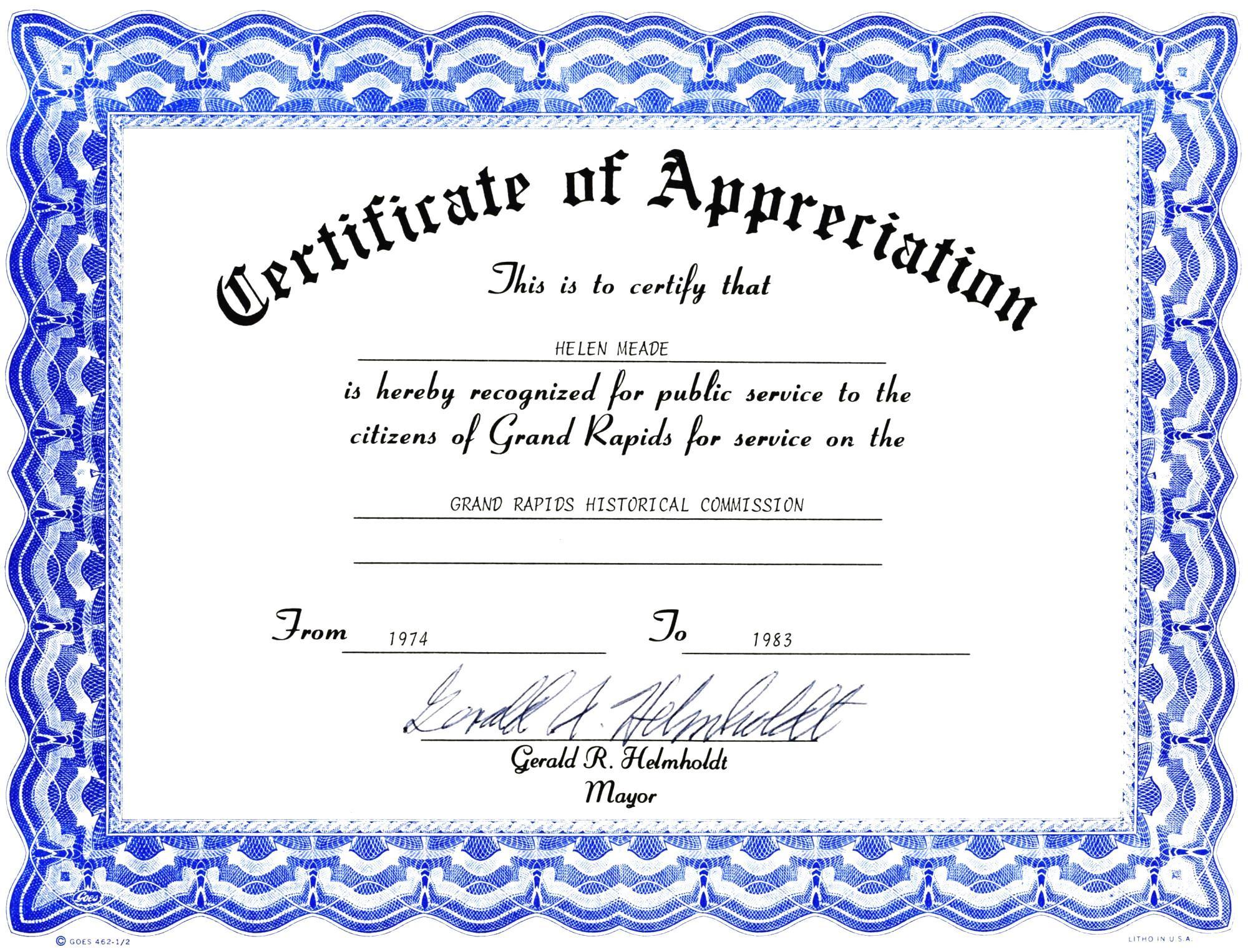 Awards Certificates Templates Free Download