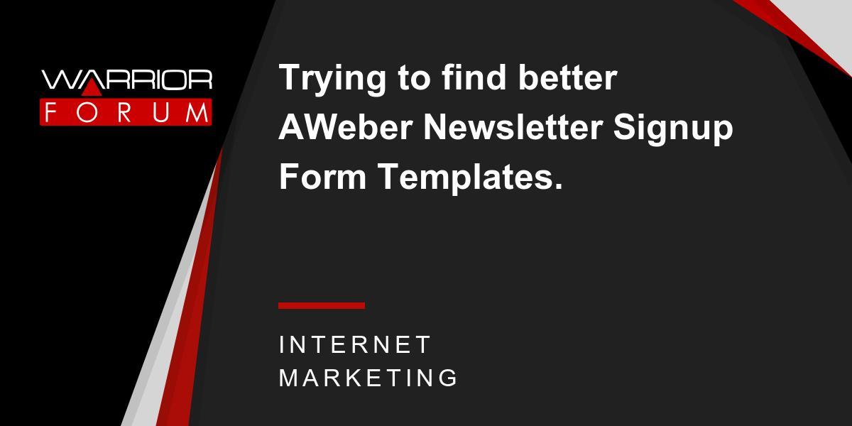 Aweber Form Templates