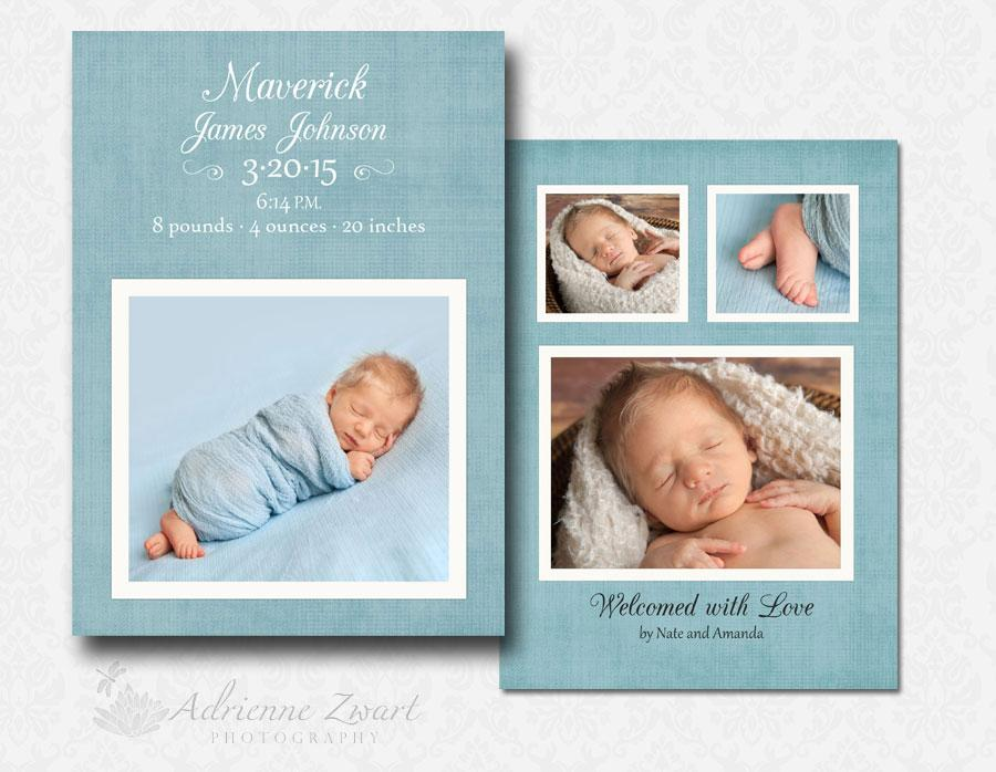 Baby Announcement Template Free Photoshop