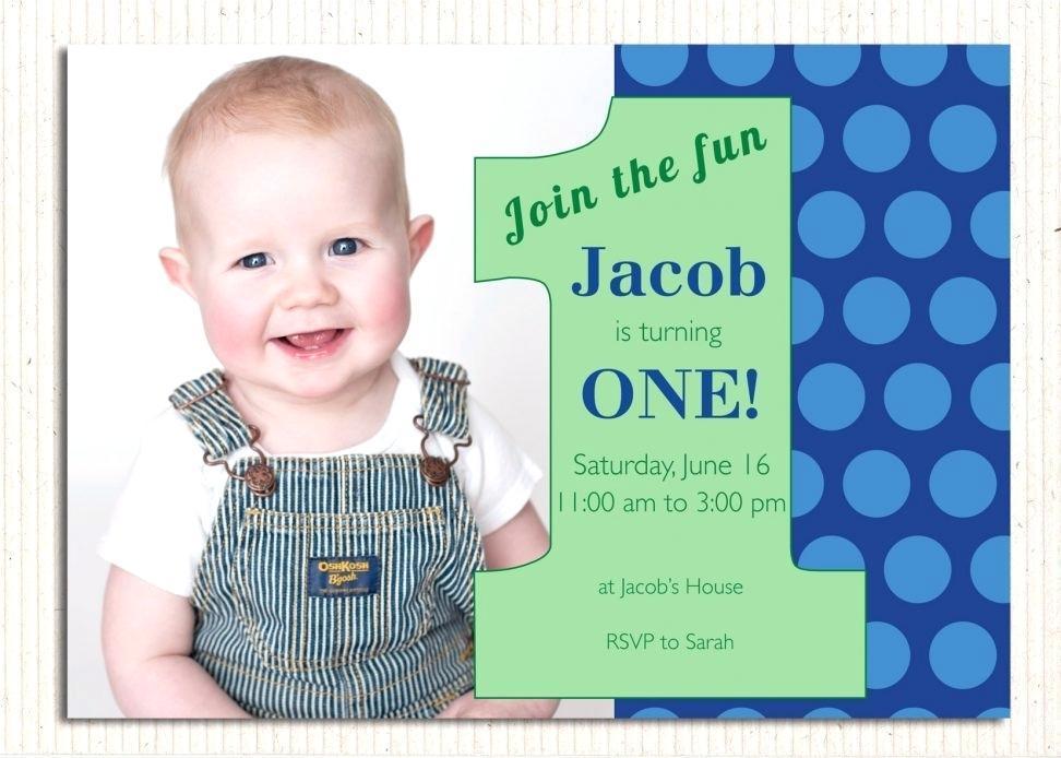 Baby Boy Birthday Invitation Templates