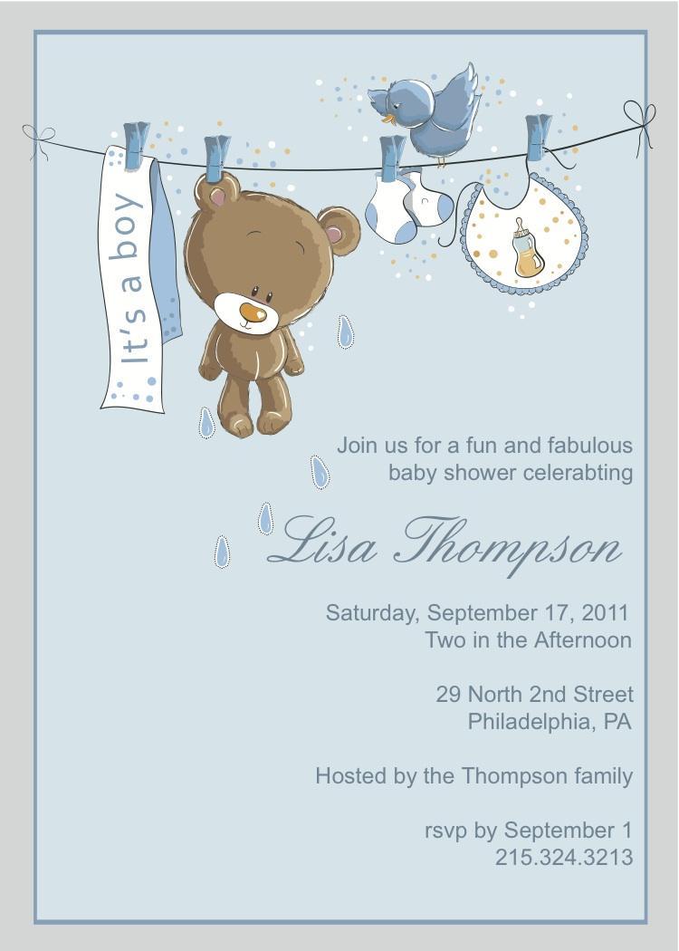 Baby Boy Invitation Templates Free
