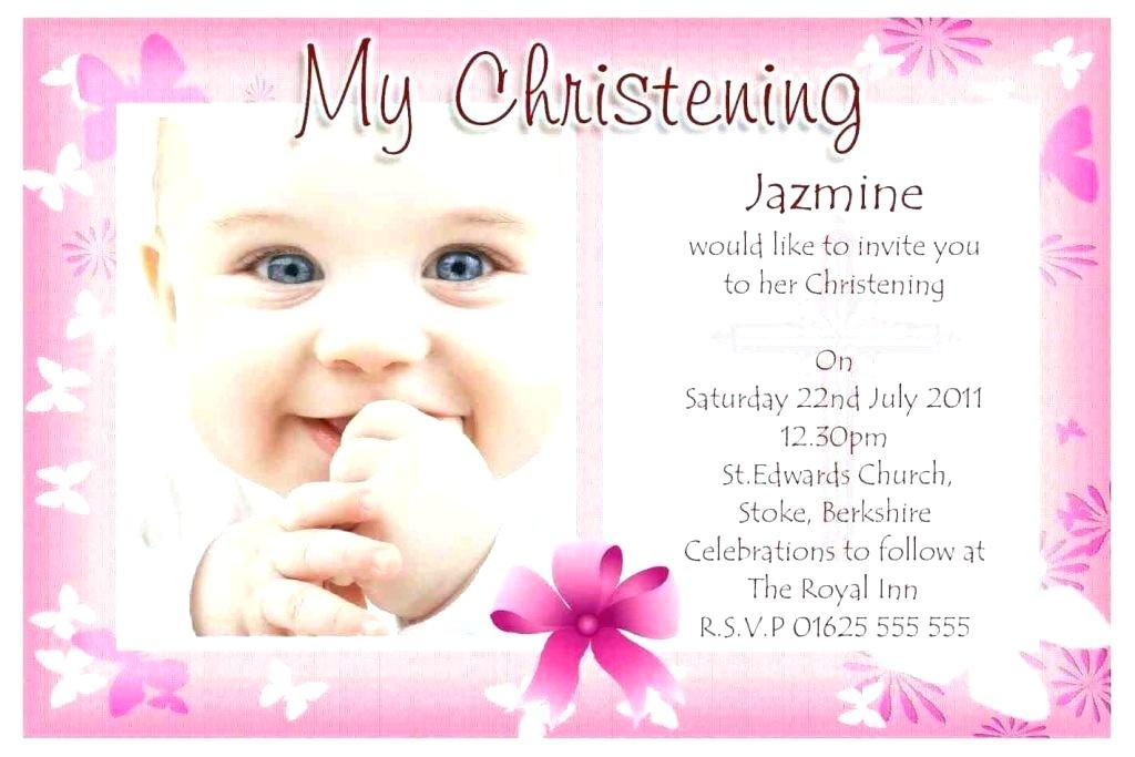 Baby Christening Invitation Samples