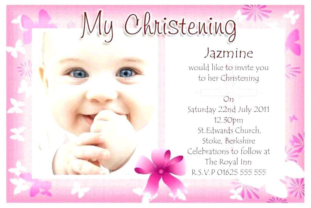 Baby Dedication Invitation Card Template