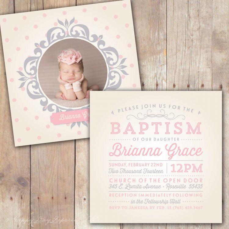 Baby Dedication Invitation Templates Free Download