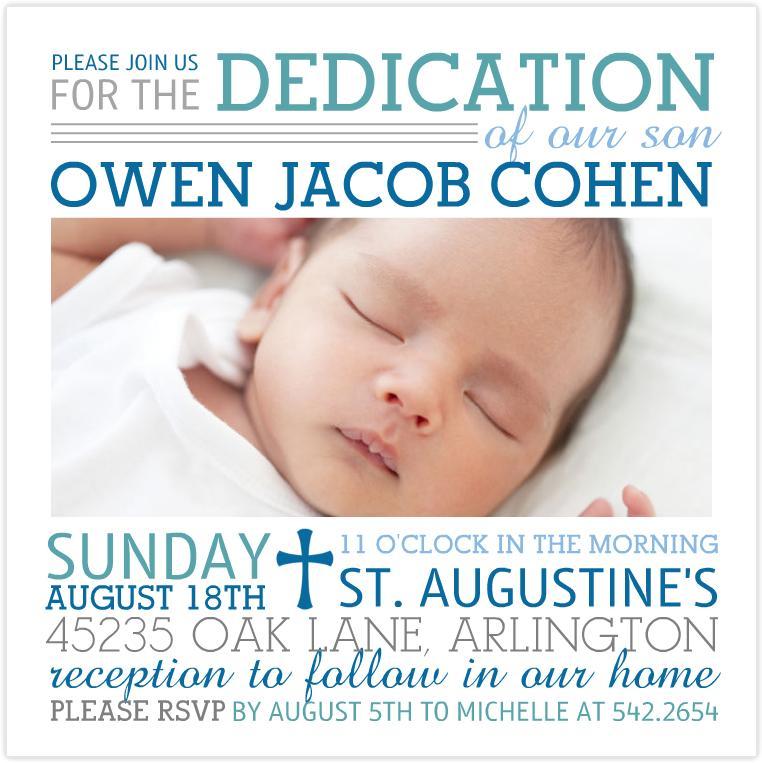 Baby Dedication Invitation Templates