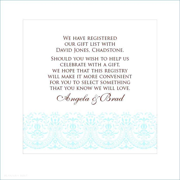 Baby Gift Registry Card Template