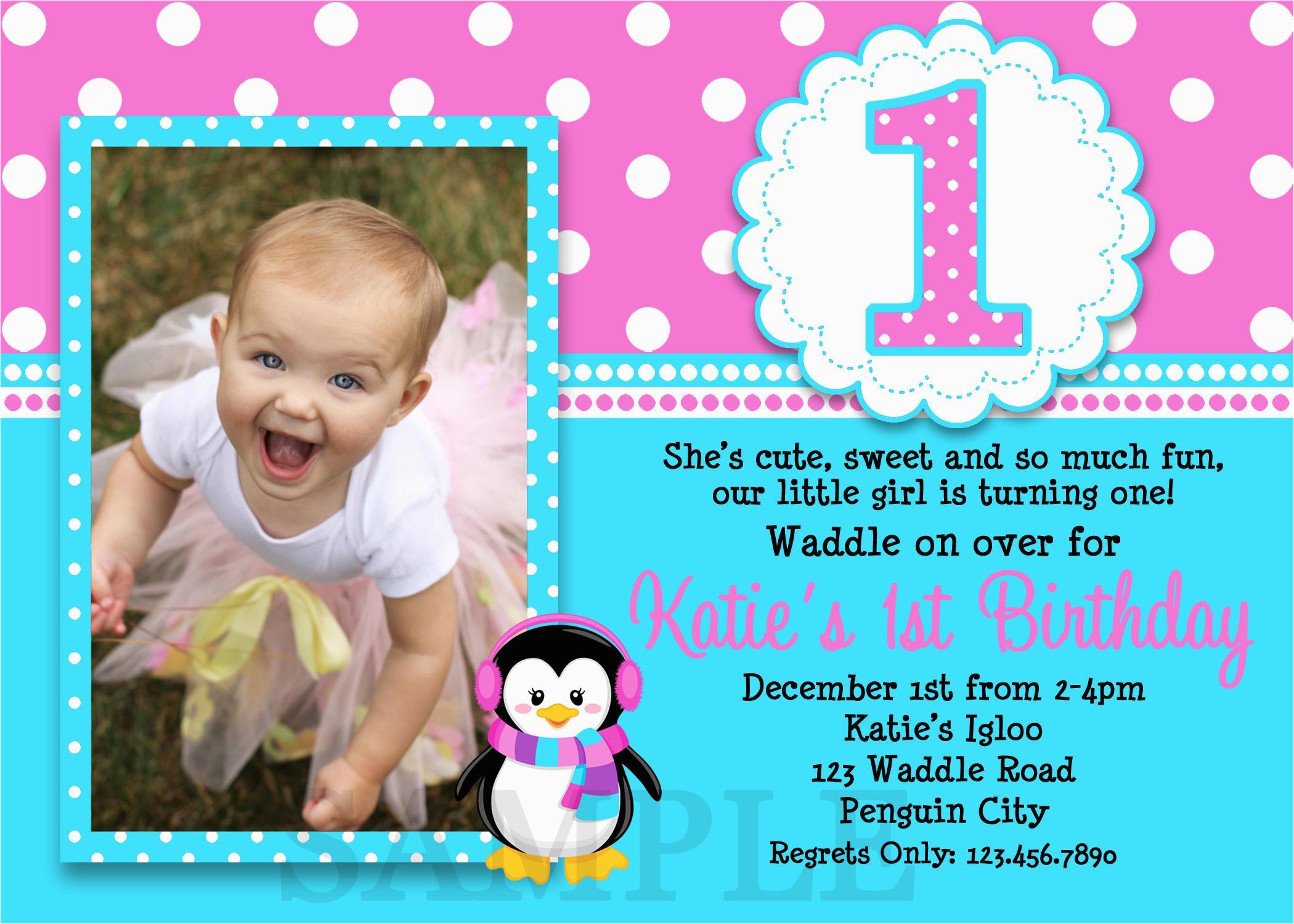 Baby Girl Birthday Invitation Template Free