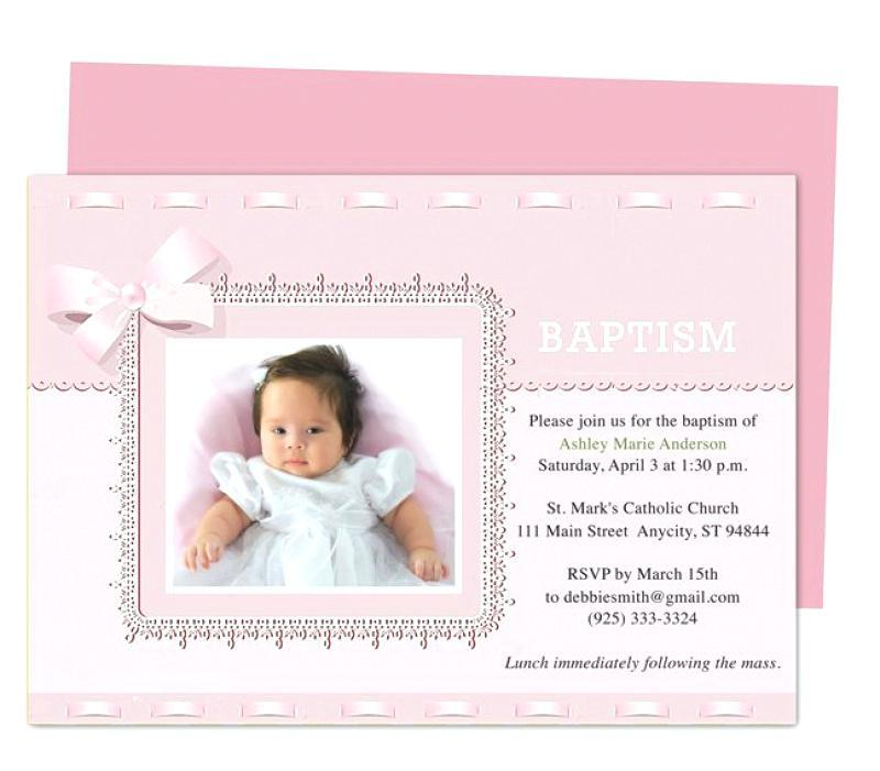 Baby Girl Christening Invitation Template