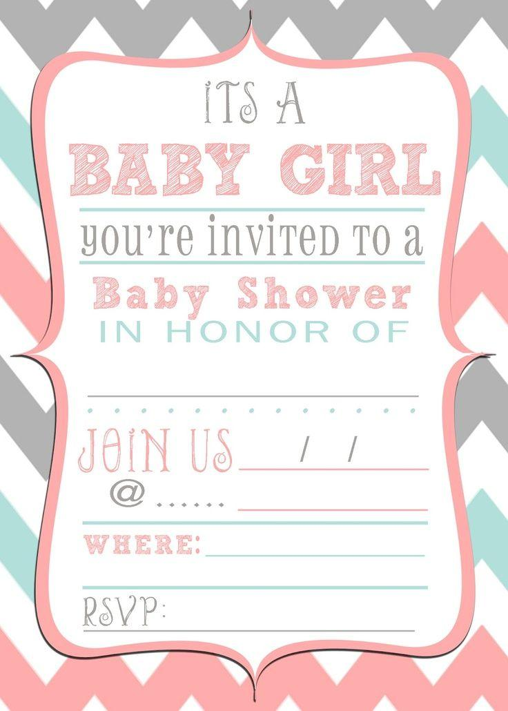 Baby Girl Shower Invitation Templates Free