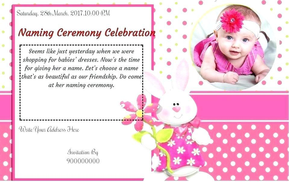Baby Naming Ceremony Invitation Wording India