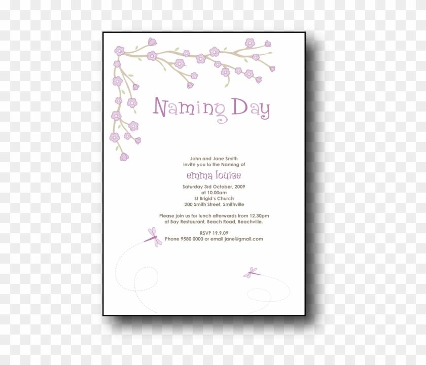 Baby Naming Day Invitation Wording