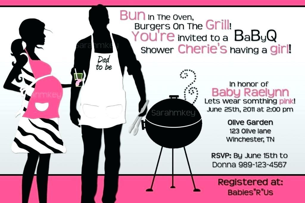 Baby Shower Bbq Invitation Templates